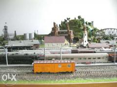 Collection of railway models
